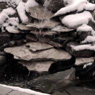Oczko wodne zimą