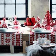 Świąteczna dekoracja stołu fot. IKEA