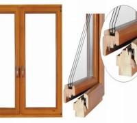 Okno drewniane - przekrój