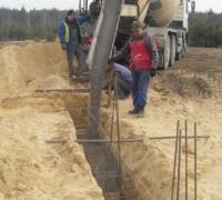 Wylewanie fundamentów