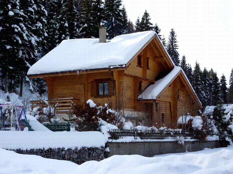 Dom i ogród zimą