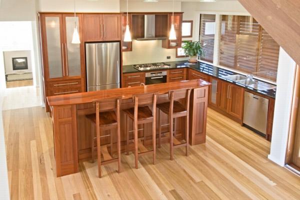 nowoczesne drewniane wnętrze