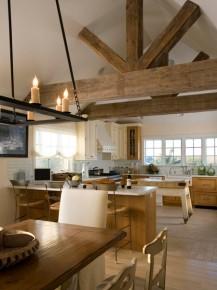drewno w kuchni rustykalnej