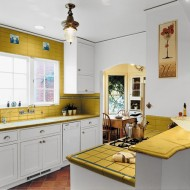 small-kitchen-decorating-ideas-yellow-surface