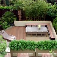 nowoczesny taras w stylu eko