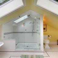 łazienka na strychu
