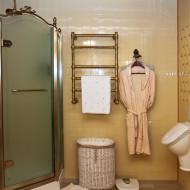 luksusowa mała łazienka w stylu retro