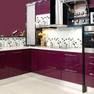 nowoczesna kuchnia w tonacji fioletu