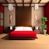 sypialnia w stylu chińskim