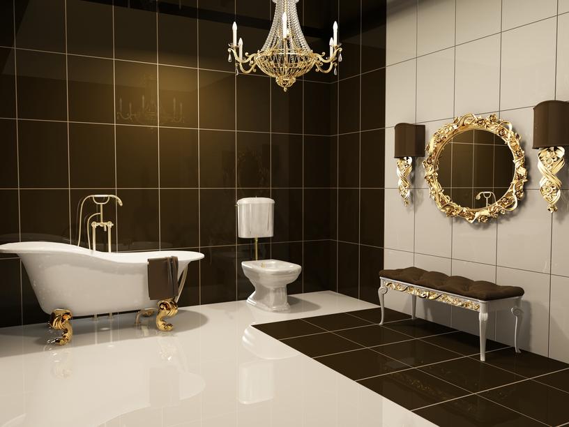 luksusowa łazienka w stylu glamur