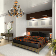 sypialnia w stylu glamur