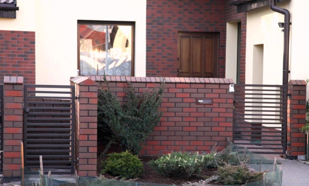 10. Klinkierowe ogrodzenie - efekt końcowy