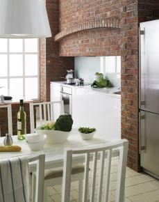 Klinkier w kuchni – rustykalne klimaty w nowoczesnym wydaniu fot. Roben